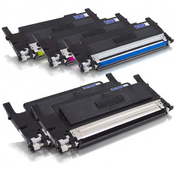 5er SPARSET Rebuilt Toner zu Samsung CLP-320 / CLP-325 (2xBK/C/M/Y) mit CHIP