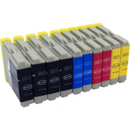 20er Combobox (kompatibel zu Brother LC970 / LC1000) 8B/4C/4M/4Y
