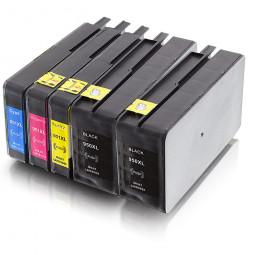 5er Combobox HP 950/951 XL wiederbefüllt, 2B/C/M/Y